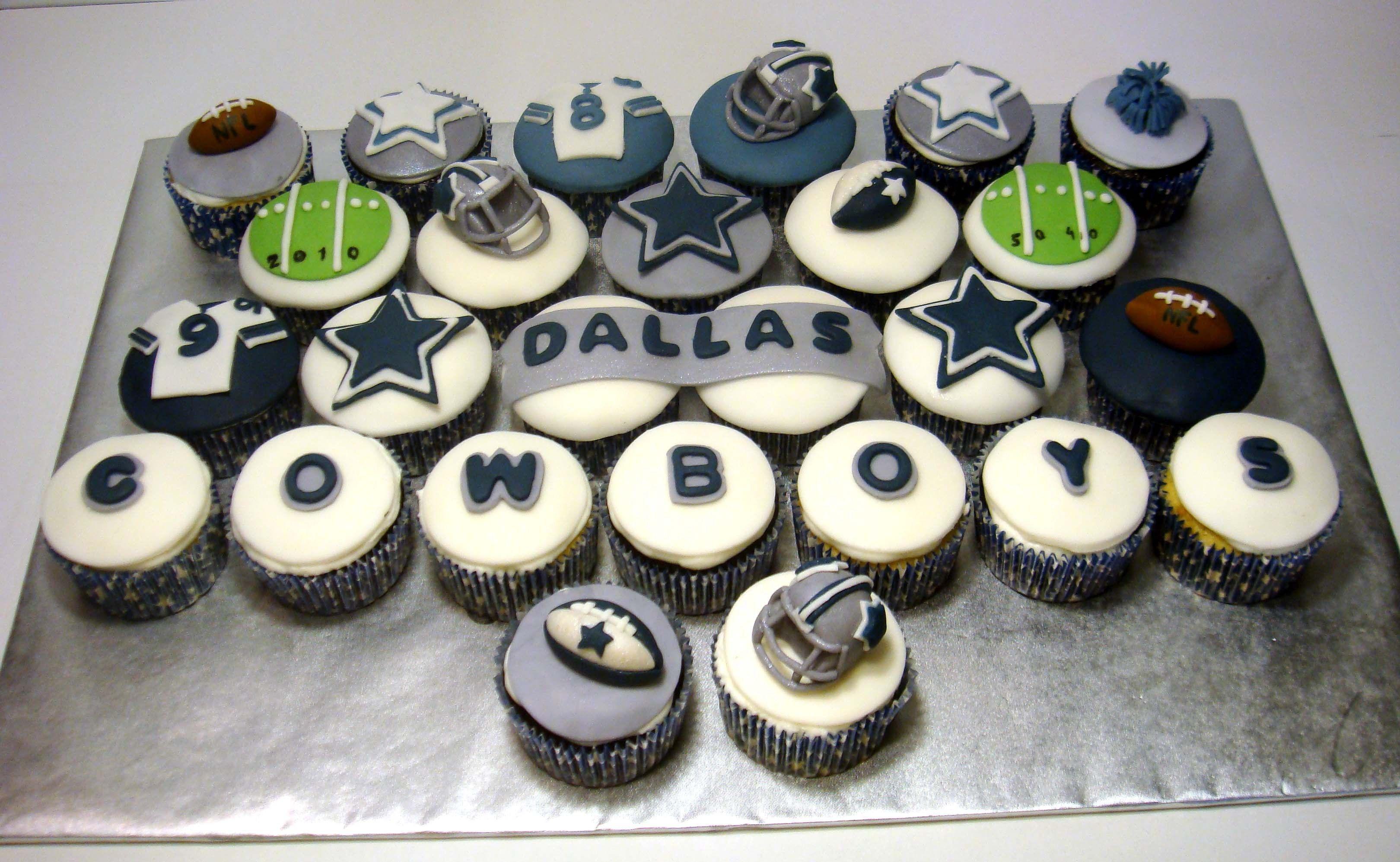 Dallas Cowboys Cupcakes Dallas Cowboys Cake Cowboy Cupcakes
