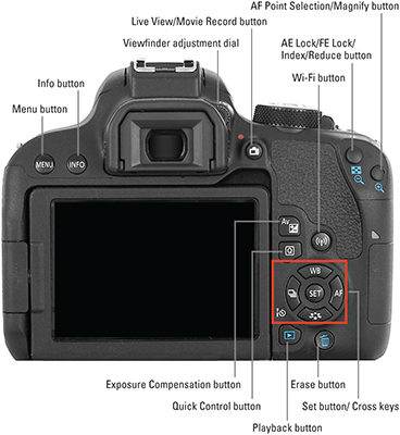 Canon EOS Rebel T7i/800D For Dummies Cheat Sheet