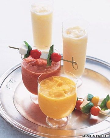 These slushy delights are perfect on a hot summer afternoon. This recipe calls for fresh tomatoes instead of canned tomato juice, but they're well worth the extra effort. Use yellow, orange, or red tomatoes -- or use all three for a colorful array of cocktails.