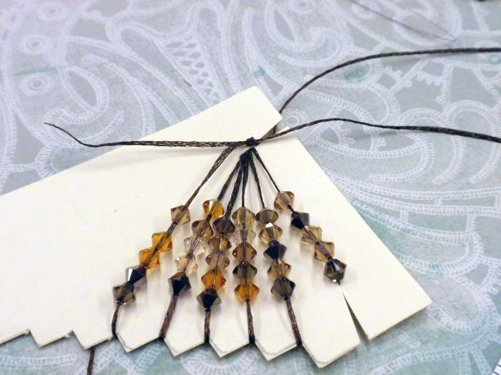 Step 4 - How to make Swarovski Crystal and WireLace Tassels