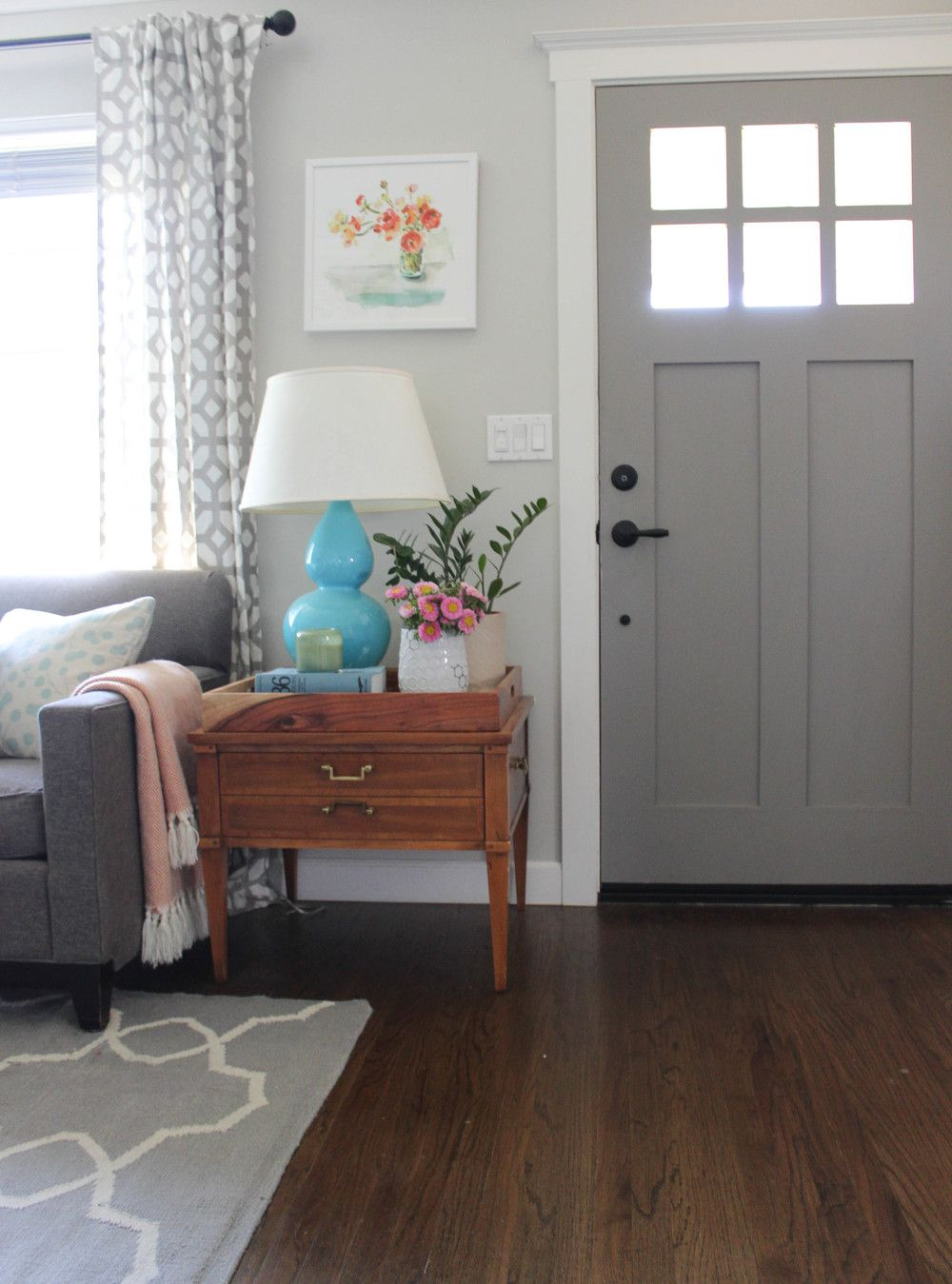 Home Tour My Living Room Our fixer upper Pinterest Gray