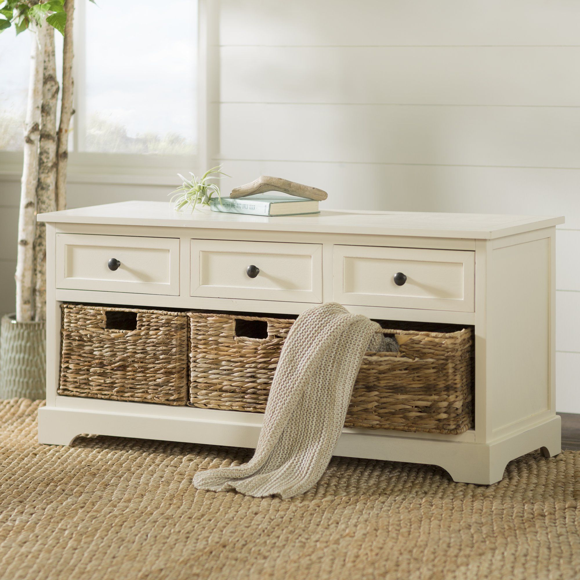 Fresh Wooden Entry Benches with Storage