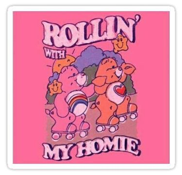 Latest Funny Aesthetic 'Rollin' With My Homies' Sticker by cecestickers 9