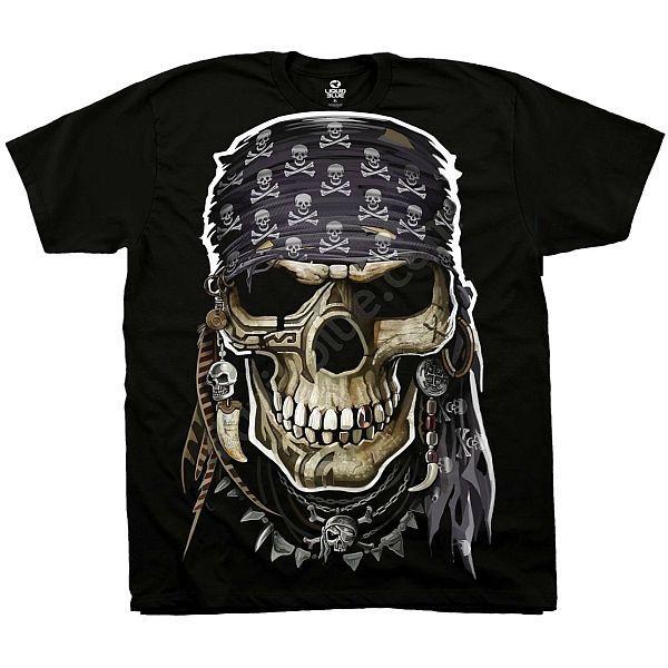 Liquid Blue Skull T-shirt | Pirate Skull