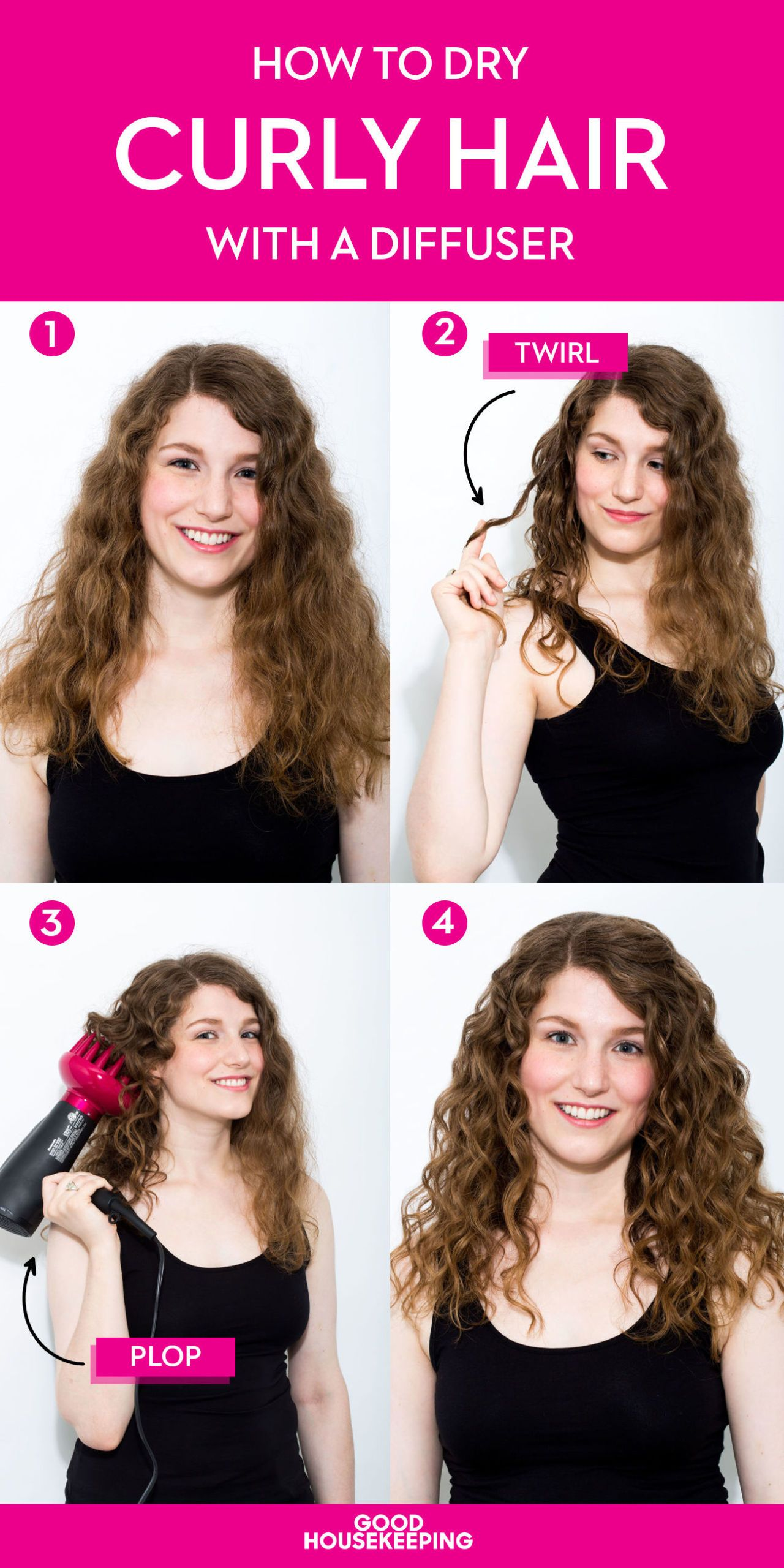 How To Get Perfect Natural Curls Using Just A Diffuser Curly Hair Tips Wavy Hair Tips Curly Hair Styles Naturally