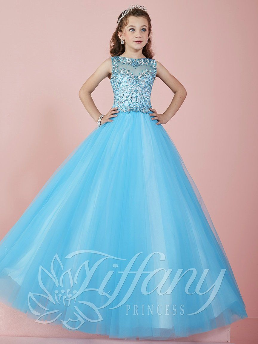 2016 New Teal Cute Girls Pageant Dresses size 10 Tulle Crystal Beads ...