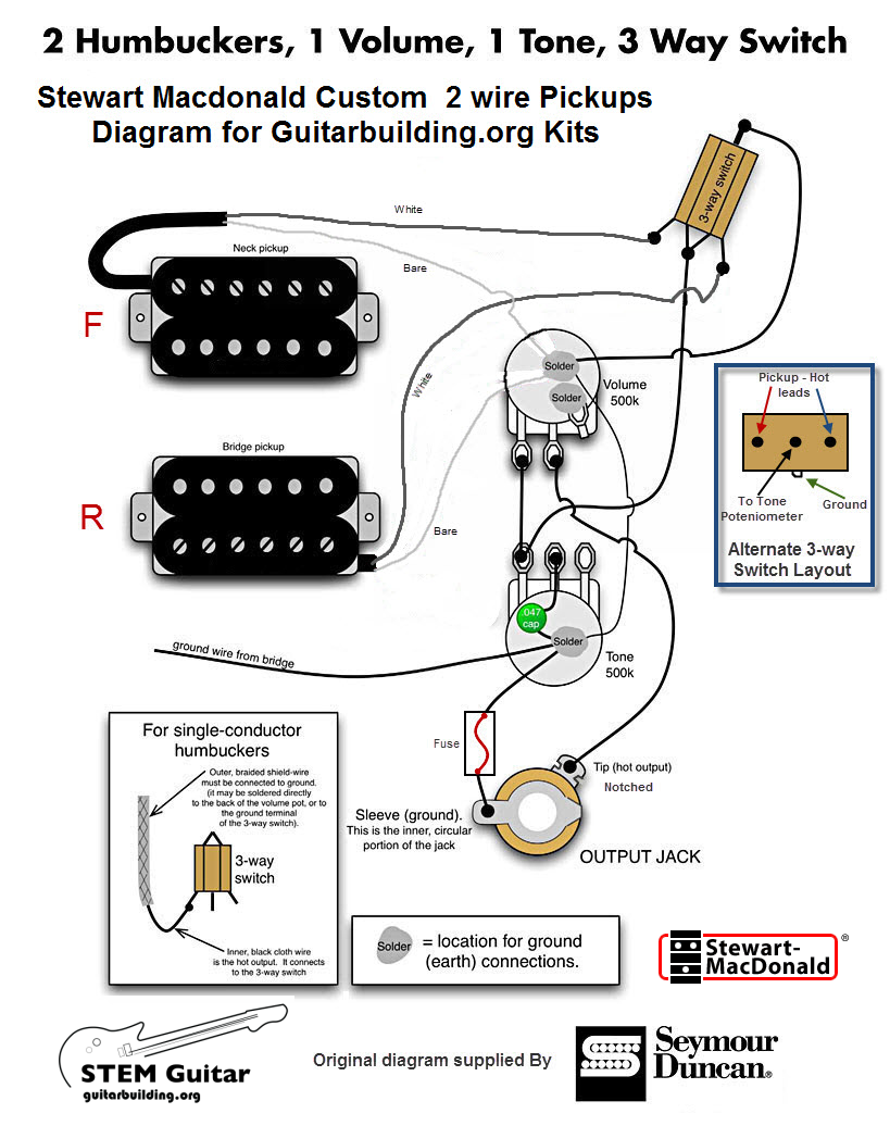 Guitar Wiring Diagrams 2 Pickups 3 Switches - wiring diagrams schematics
