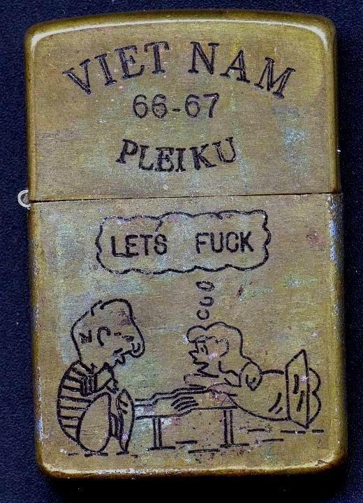 ORIGINAL VIETNAM WAR Zippo Lighter TTHLHQ Cam Ranh - $250