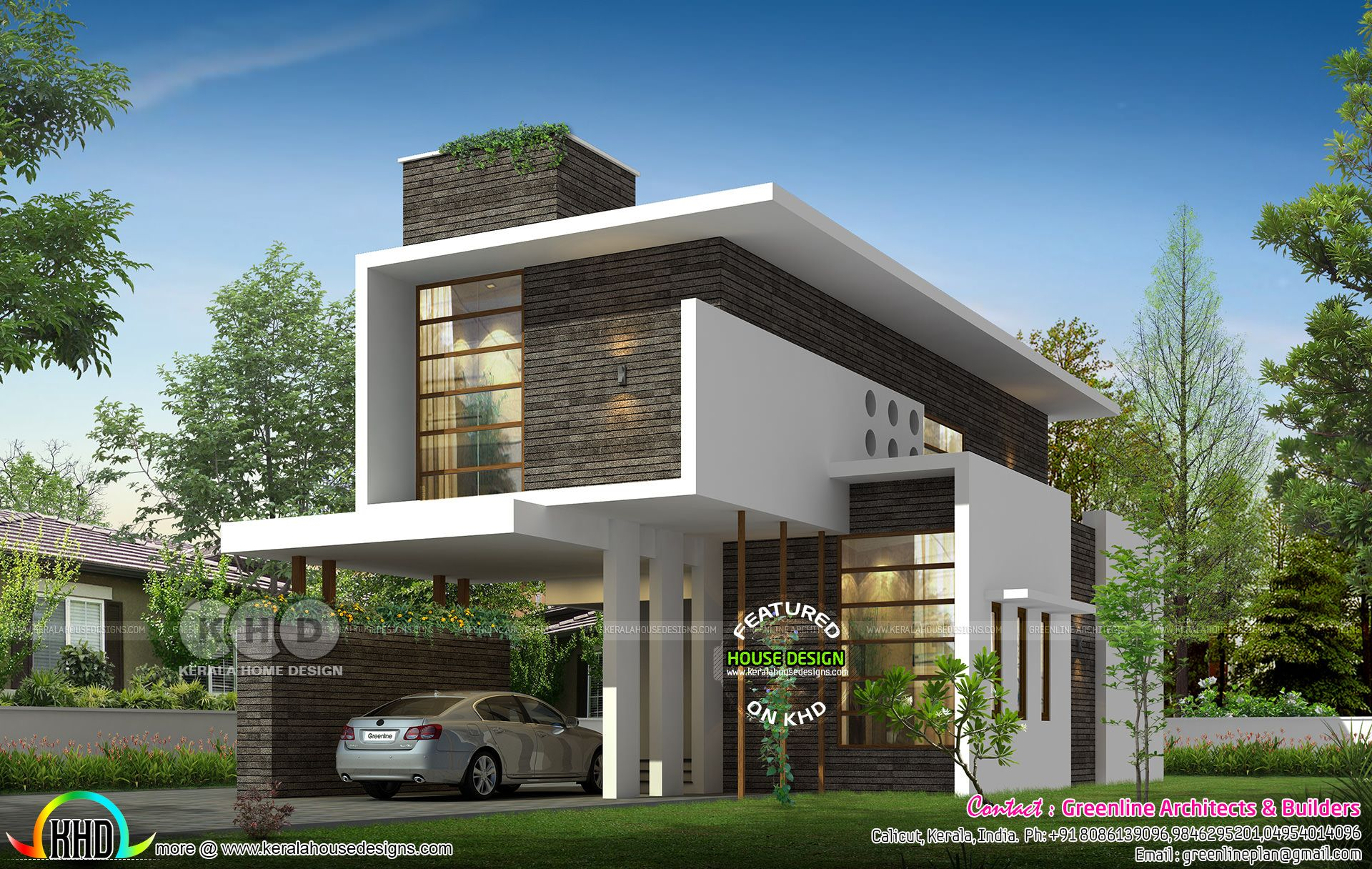 Kerala Ultra Modern House Design Jpg 1920 1216 Kerala House Design Bungalow House Design Home Building Design