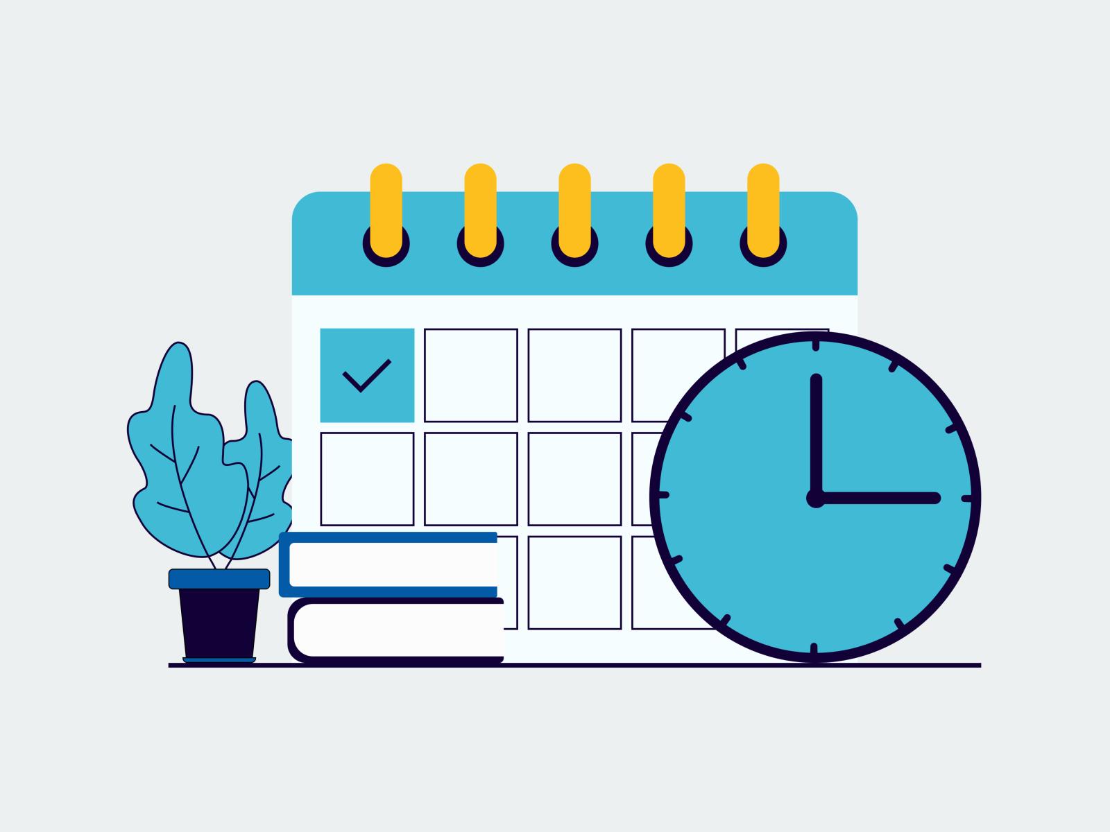 Time Management Flat Design Design Time Management Flat Design