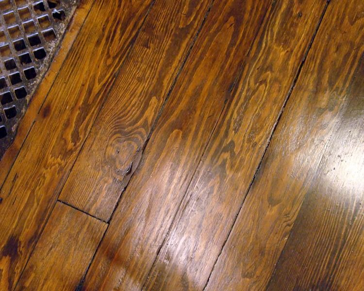 Rustic very worn antique southern yellow pine floor www for Raw wood flooring
