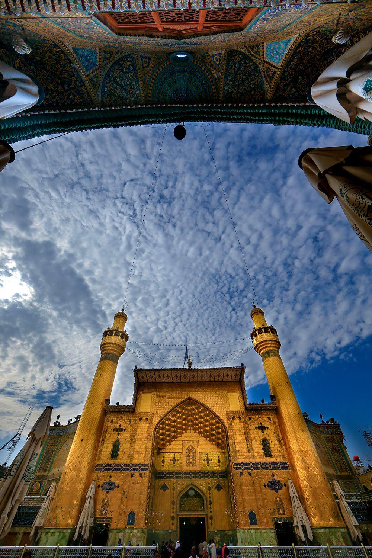 ایوان نجف عجب صفایی دارد Holy Shrine Of Imam Ali حرم امیرالمومنین Karbala Photography Imam Hussain Wallpapers Amazing Nature Photography