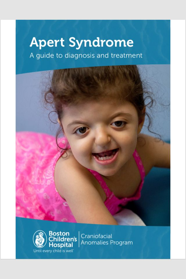 A Mothers Crusade My Special Needs >> Apert Syndrome Booklet By Boston Children S Hospital Aperts