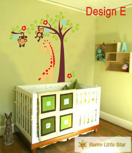 Owls Jungle Animals Wooden Bedroom Furniture Kids: A+B Sale Jungle Animal/ Colourful Owl Nursery Wall Sticker