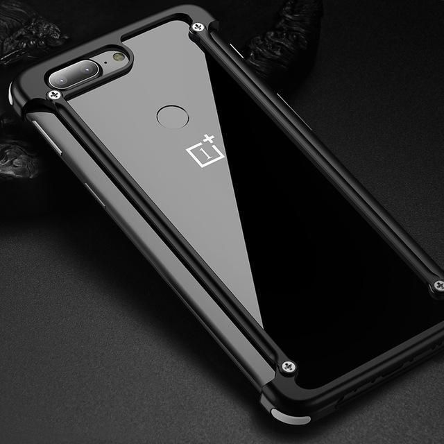 Airbag Bumper Protection Case For Oneplus 6t Mclaren: Original Airbag Bumper Metal Case For Oneplus 5T Case