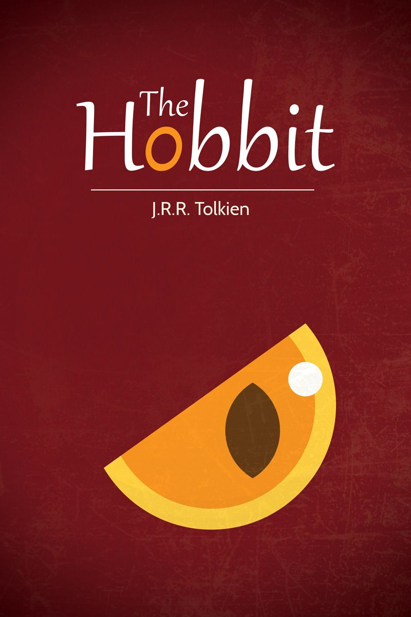 My first minimal poster the hobbit hobbit movie book for Minimal art book