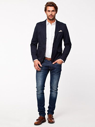 9ae50a7549b Treck Blazer - Selected Homme - Navy Blazer - Suit Jackets   Blazers -  Clothing - Men - NlyMan.com Uk