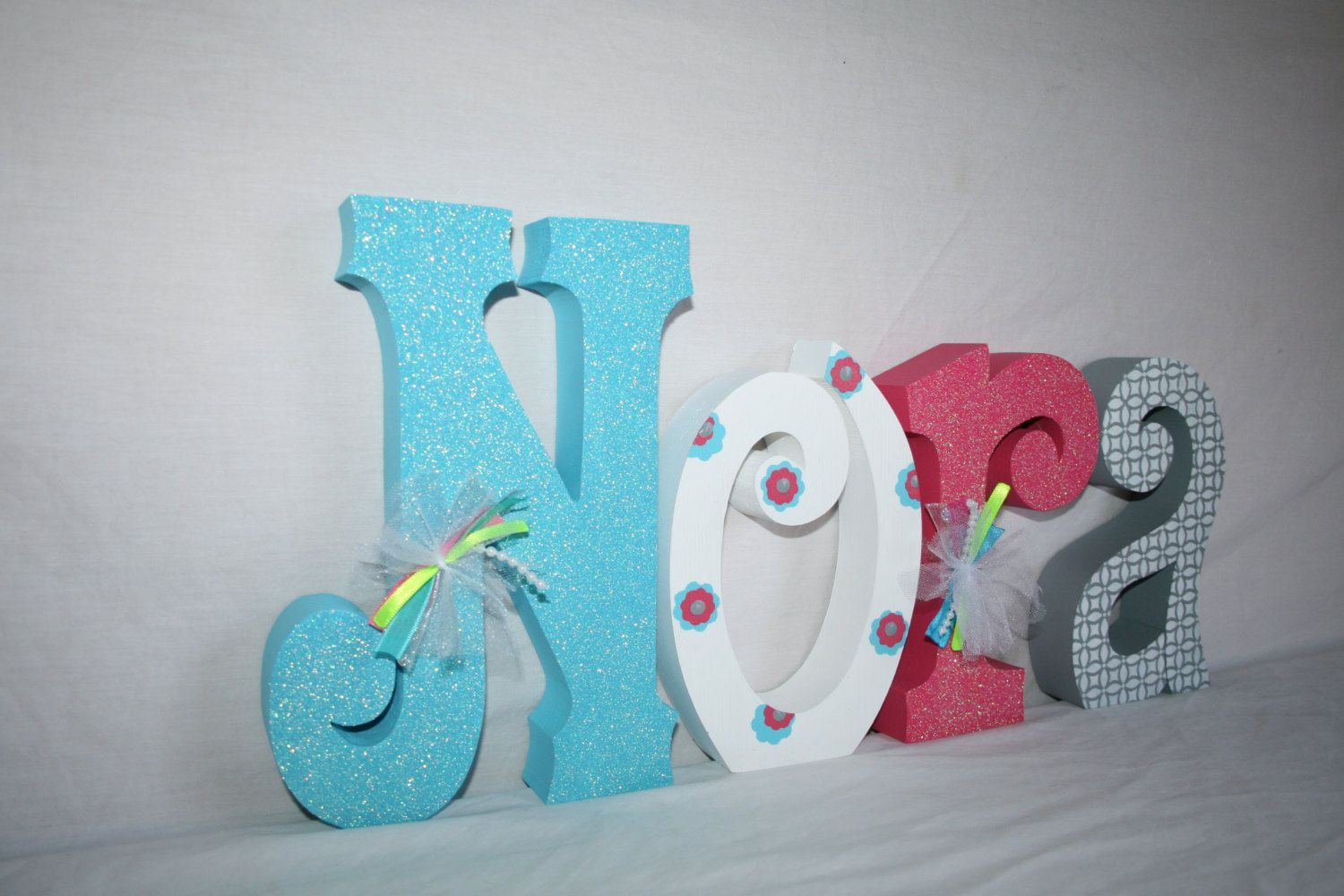 Baby girl name letters Wood letters 4 letter set Wood