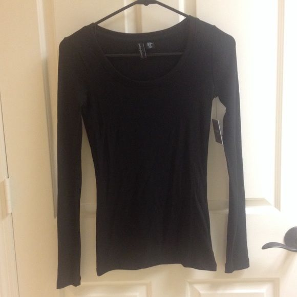 06acfb90bb5 CYNTHIA ROWLEY tight black long sleeve shirt The most comfortable and  stretchy long sleeve black basic. Perfect to keep warm and layer with. New with  tag ...