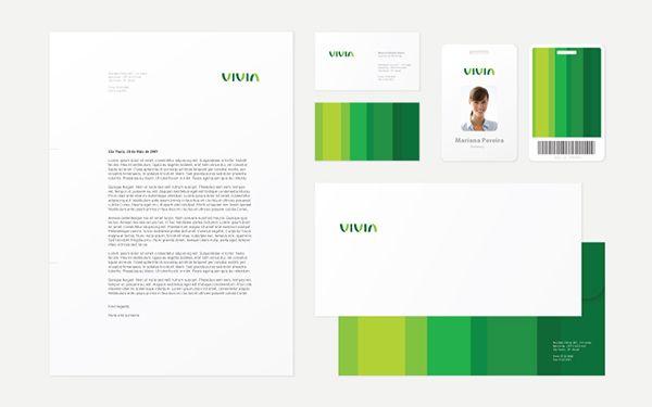 Corporate and brand identity Vivia on Behance