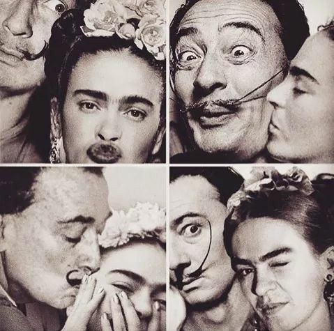 i chose to pin this goofy collage of two artists we learned about frida and dali because it. Black Bedroom Furniture Sets. Home Design Ideas