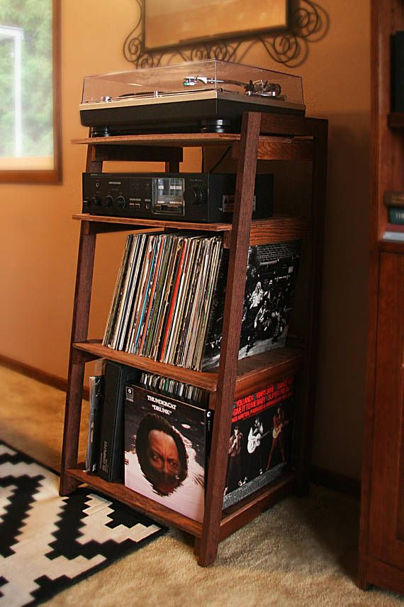 Wood Turntable Stand Record Player Console Vinyl Lp Album