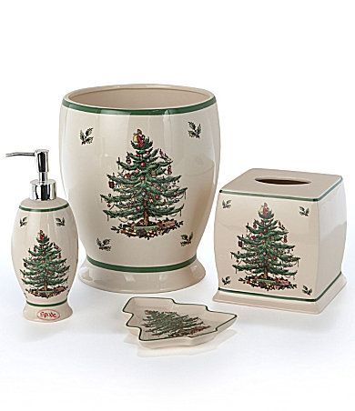 Spode Christmas tree bath accessories Spode Christmas Tree