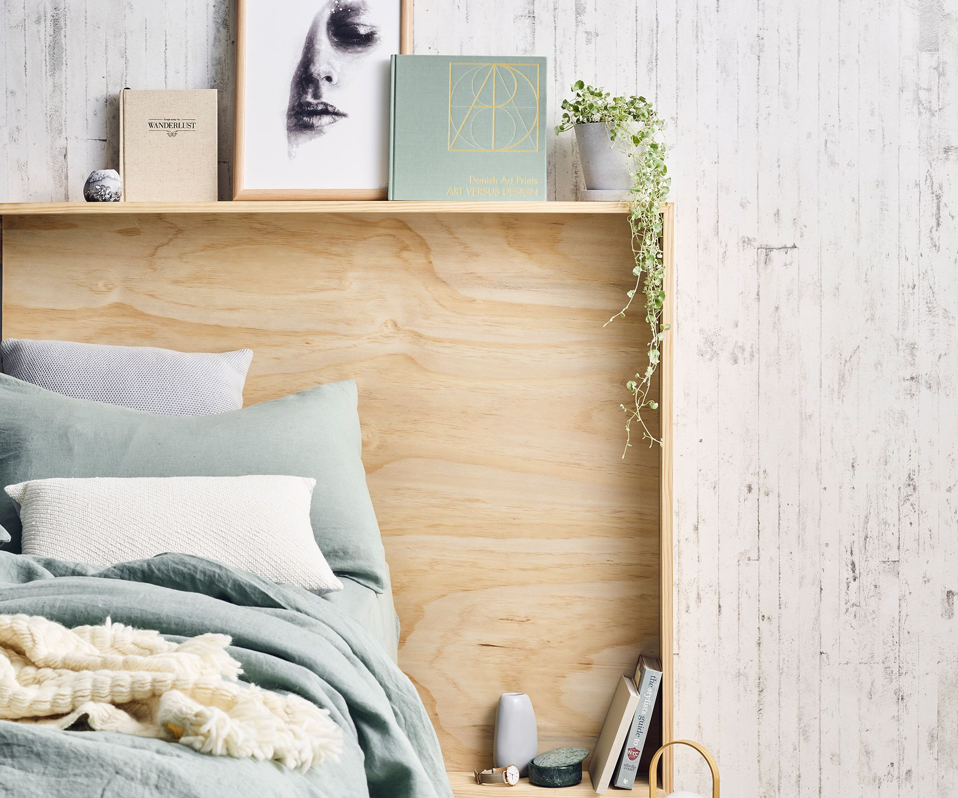 Stylish Storage Ideas For Small Bedrooms: How To Make A Double Duty Bedhead