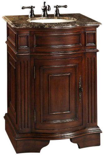 Adelina 26 Inch Petite Antique Bathroom Vanity Cherry Finish