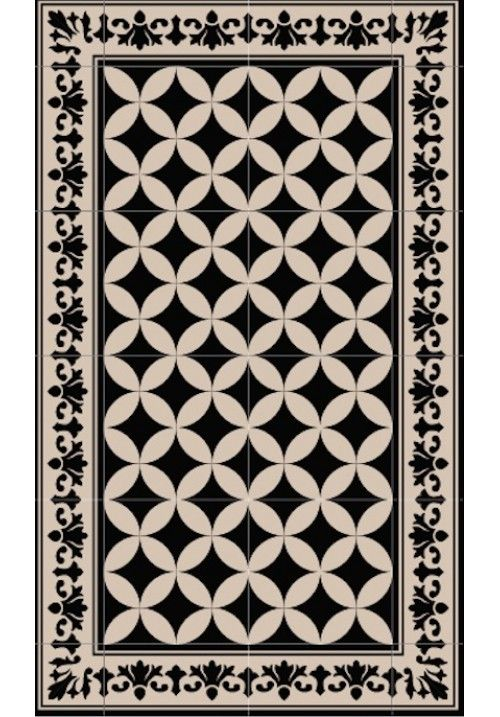 Tapis vinyl carreau de ciment sofi outdoor pinterest for Tapis vinyl carreaux ciment
