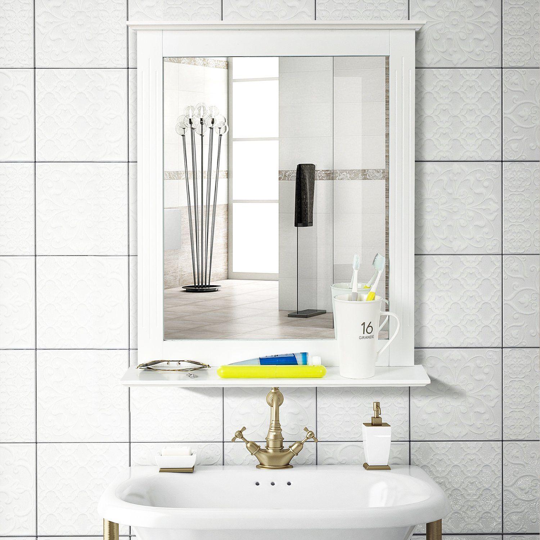 Homfa Bathroom Wall Mirror Vanity Mirror Makeup Mirror Framed Mirror With Shelf For Home Multipurpos Mirror Wall Bathroom Mirror Wall Bedroom Mirror With Shelf [ 1500 x 1500 Pixel ]