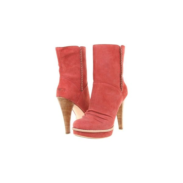 6b9c14fc431 Free Shipping Womens UGG Bianka Red Boots for Clearance Outlet   ugg ...