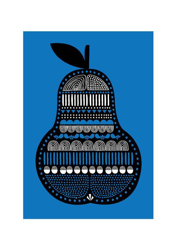 Pear Art Print by dekanimal