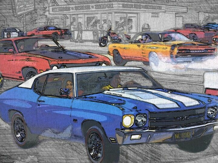 Muscle Car Sketch All Around Fun Pinterest Car Sketch