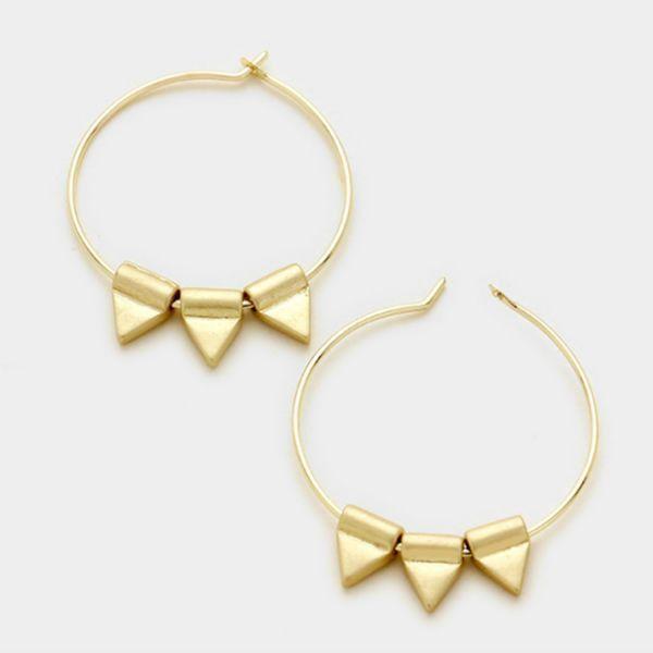 Small Hoop Earrings - Gold
