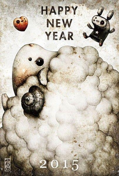 2014 New Year Greetingcard Artwork – Sheep - shichigoro-shingo