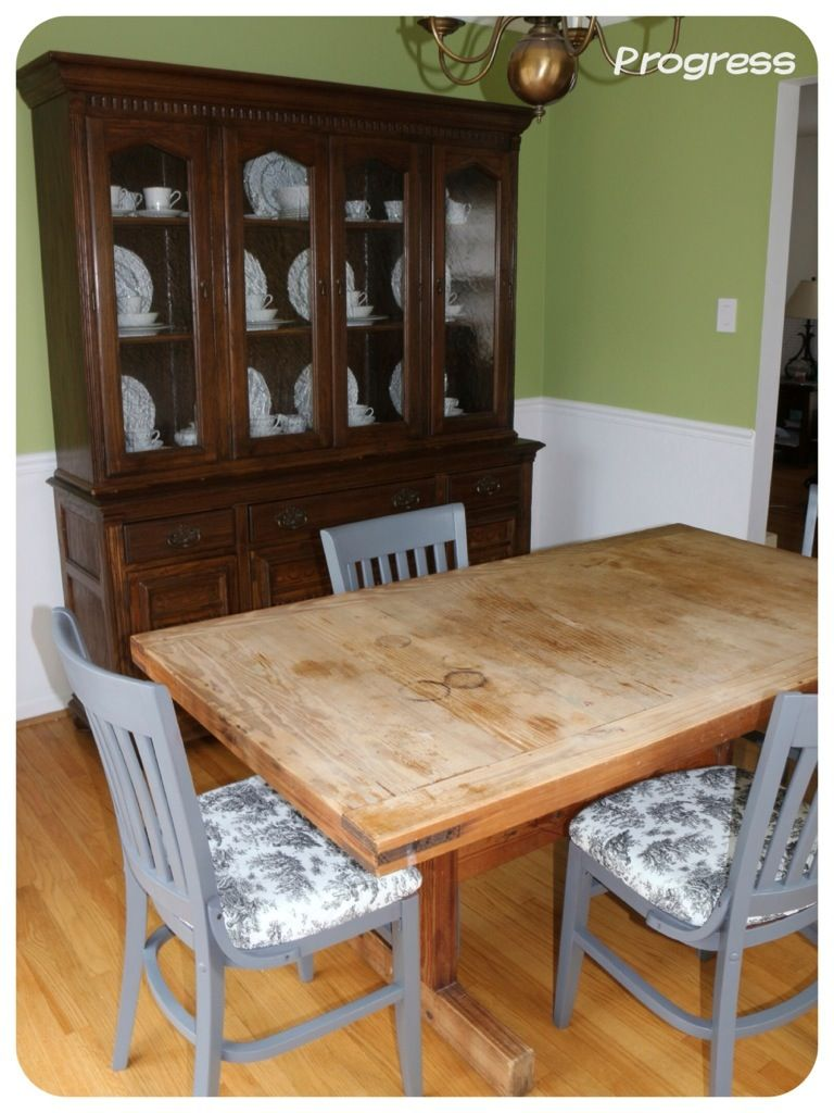 Our Dining Room Update - Stoneybrooke Story #DIY #Dining #Reupholster #green #ethanallen