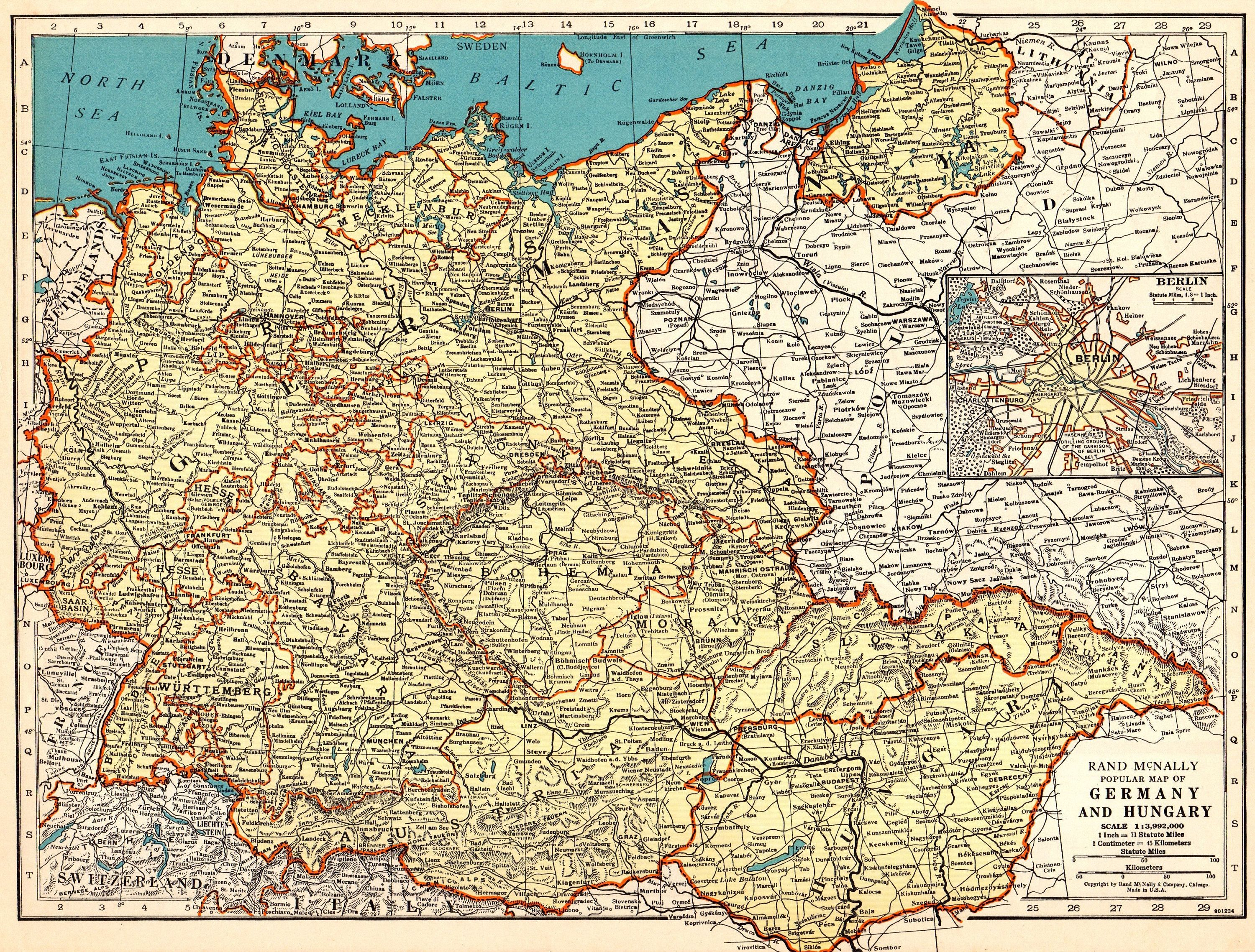 Map Of Germany 1939.1939 Antique Germany Map Of Germany And Hungary Map Gallery Wall