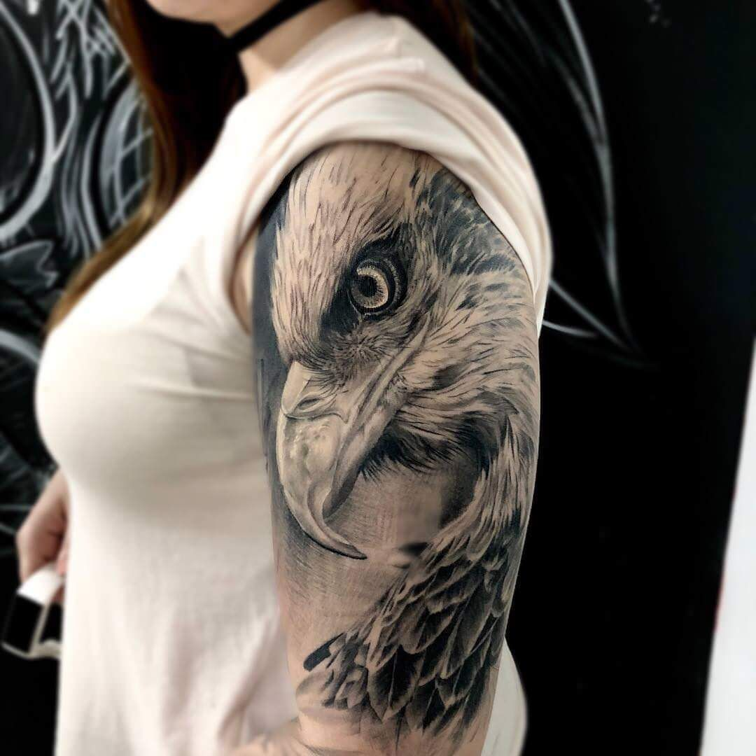 32 Of The Best Eagle Head Tattoos Ever In 2020 Eagle Head Tattoo Head Tattoos Eagle Tattoo