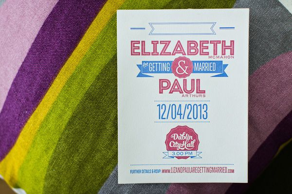 Red Hot City Hall Celebration - Liz and Paul's Dublin City Hall Wedding - One Fab Day