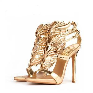 Would you love to have this Gold Leaf Flame Heel Get with FREE Shipping    Super 44299e67690f