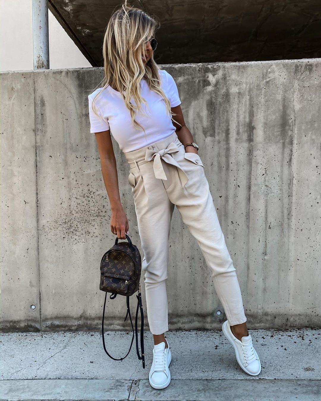 3 261 Haresvaniya 31 Komentara Chicaca Pl V Instagram Spodnie Z Wysokim Stanem Wiazane W Pasie I Nasz Casual Pants Style Women Pants Casual Fashion Pants