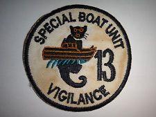 "US Navy SPECIAL BOAT UNIT 13 ""VIGILANCE"" - Vietnam War Patch"