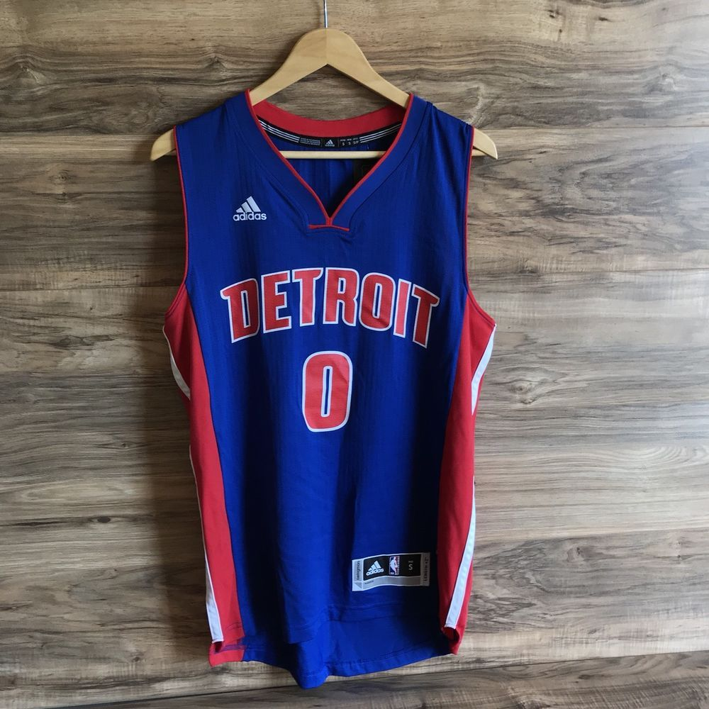 best value ace55 d7bd1 New Adidas NBA Detroit Pistons Andre Drummond #0 Swingman ...