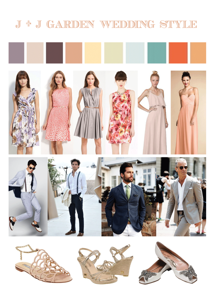 our very own garden wedding guests attire style inspiration board to know what they should wear