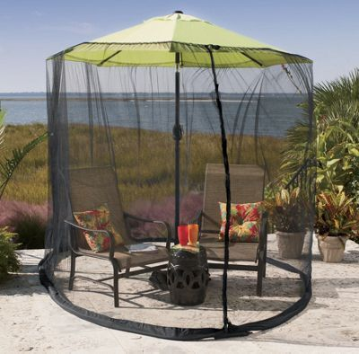 9 Foot Umbrella Table Screen: Turn Your Patio Set Into A Screened In