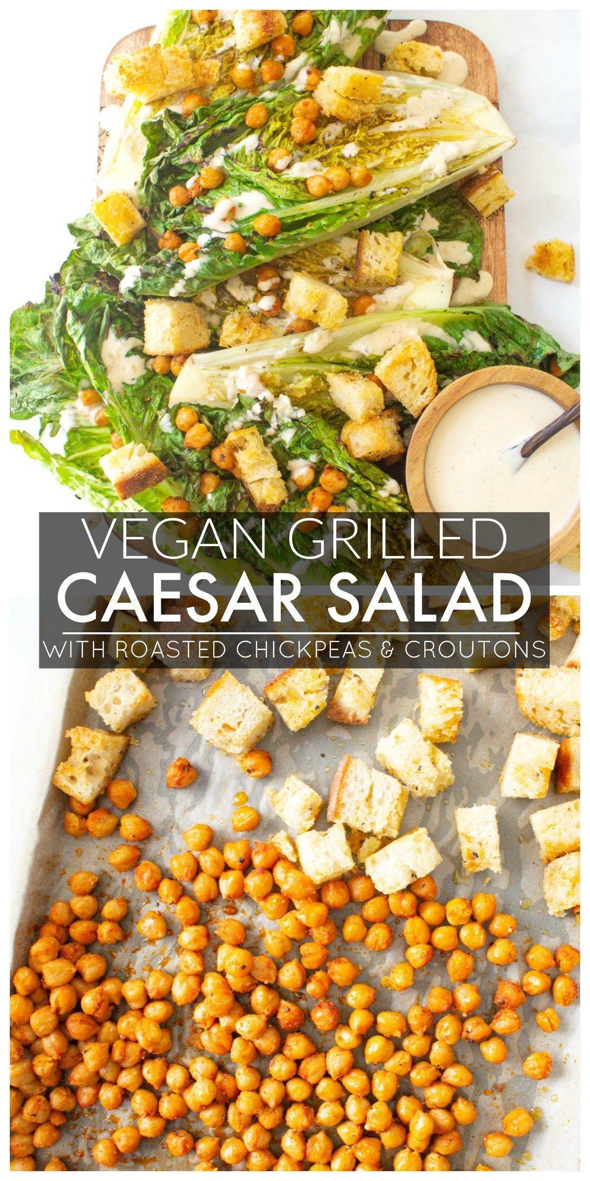Vegan Grilled Caesar Salad