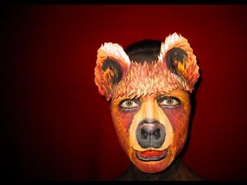 Brown Bear Face Paint in Action