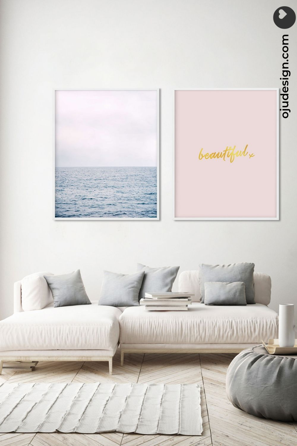 Set Of Two Wall Art Bedroom 2 Piece Wall Art Pair Of Prints Gallery Wall Set Of 2 Wall Art Blue And Pink Wall Art Gallery Wall