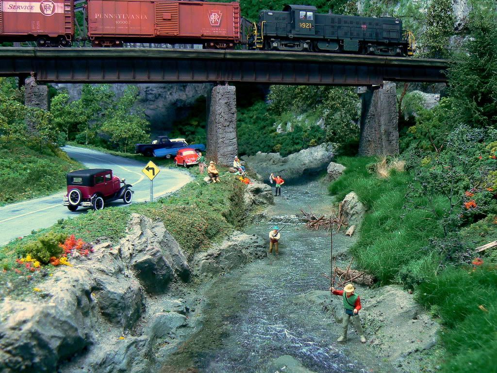 Water falls and streams model railroad hobbyist magazine